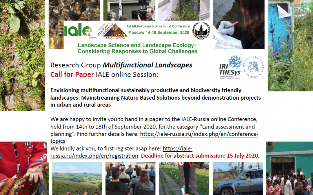 Research Group Multifunctional Landscapes – Call for Paper IALE online Session