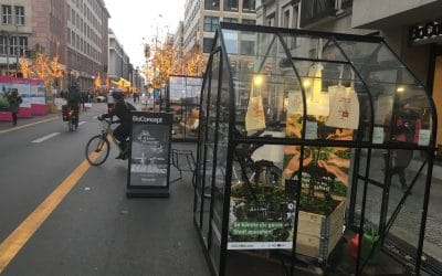EdiCitNet is presenting the Edible City of the Future on car-free Friedrichstraße in Berlin!