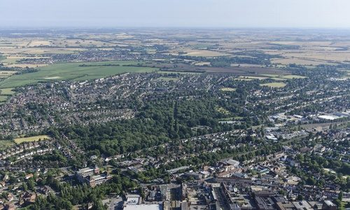 Letchworth_Aerial_Photo_town_centre_Broadway_Gardens