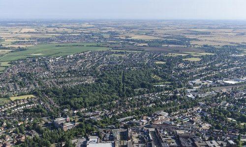 Letchworth_Aerial_Photo_town_centre_Broadway_Gardens