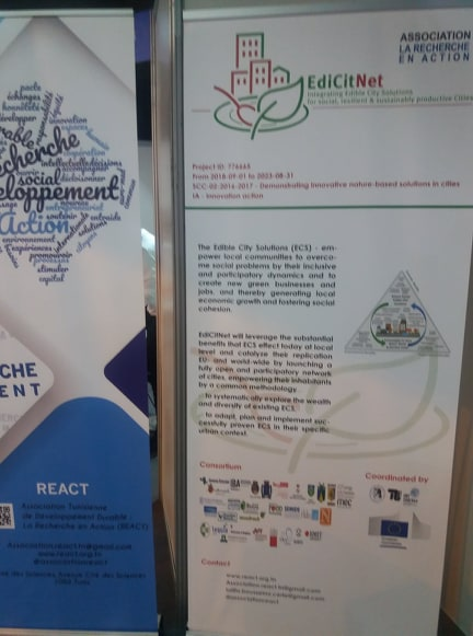 Presentation of the EdiCitNet project at the exhibition organized during the Tunisian-European Science and Innovation Days (TESI)
